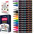 Paint Pens for rock painting - Wood, Glass, Metal and Ceramic Works on almost all surfaces set of 15 Vibrant Medium tip Oil Paint Markers, Quick Dry, Water Resistant