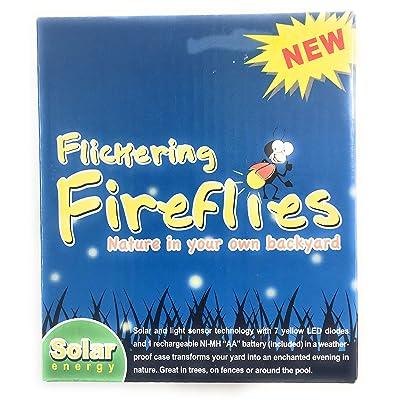 Nantucket Home and Garden Flickering Fireflies Lights Solar Powered 7 Magic Fireflies Bulb String : Garden & Outdoor
