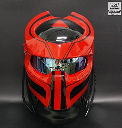 Custom made Predator Motorcycle Dot Helmet SY02 by Pro Predator Helmet … (XL)