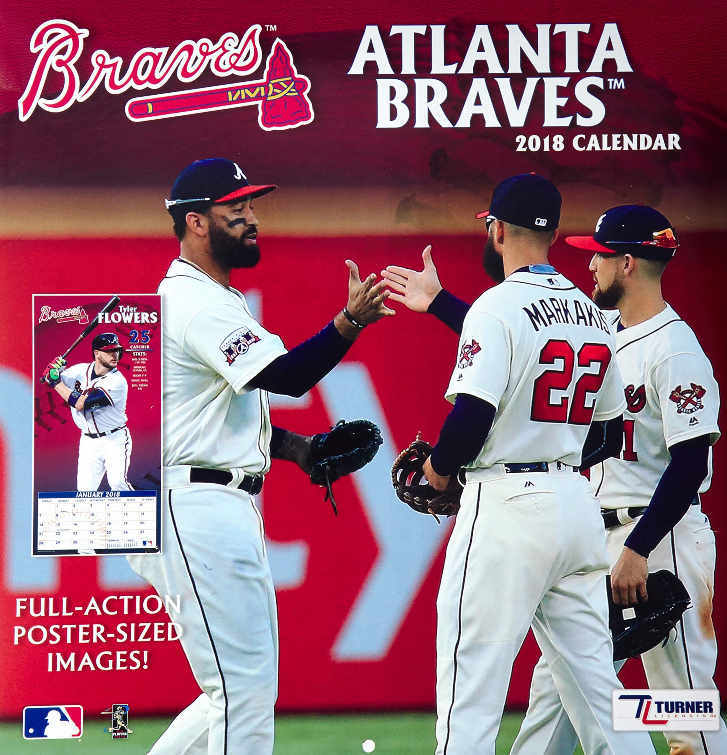 new product 9cd74 0b207 Atlanta Braves 2018 Calendar: Inc. Lang Companies ...