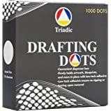 1,000 Triadic Drafting Dots, No Tear, 7/8 Diameter for Artwork, Blueprints, Drafting and More
