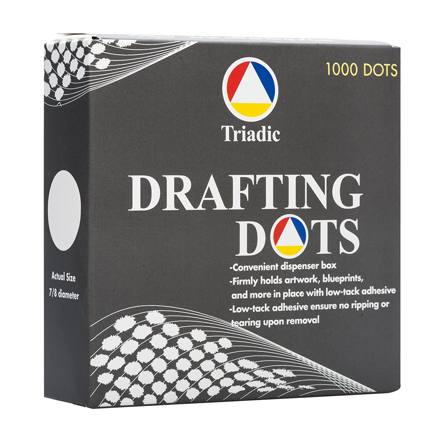 1,000 Triadic Drafting Dots, No Tear, 7/8 Diameter for Artwork, Blueprints, Drafting and More 91Qq73nStiL