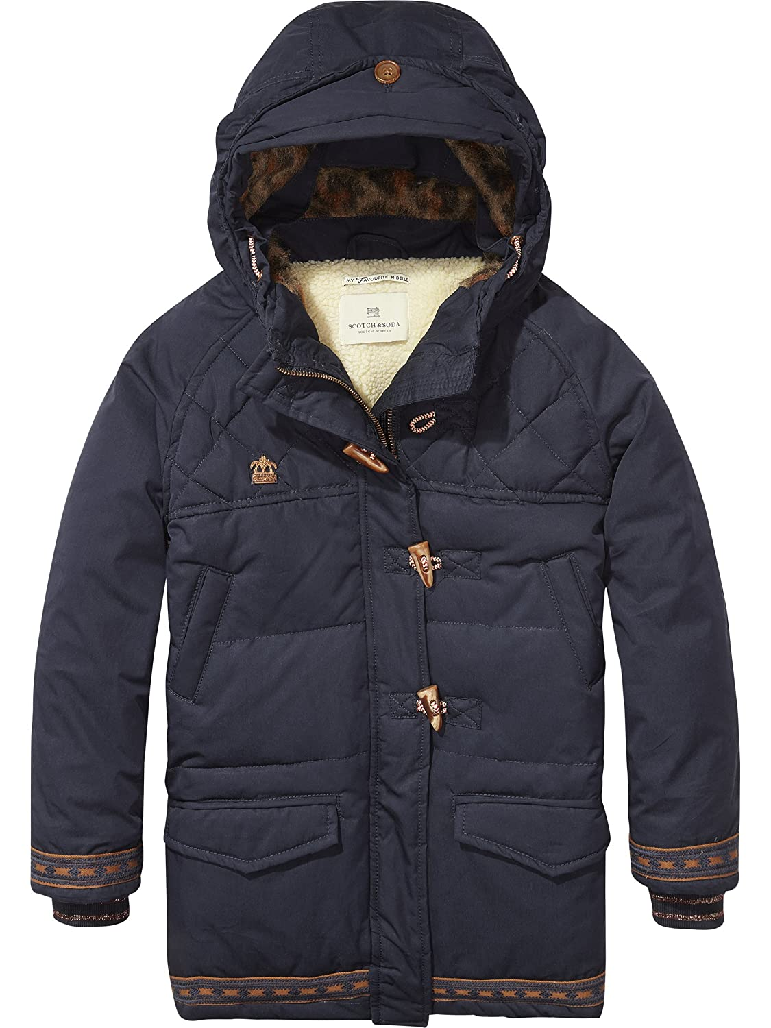 Bleu (Night 002)  Scotch & Soda Taped Mit Kapuze Shell Parka Blouson Fille