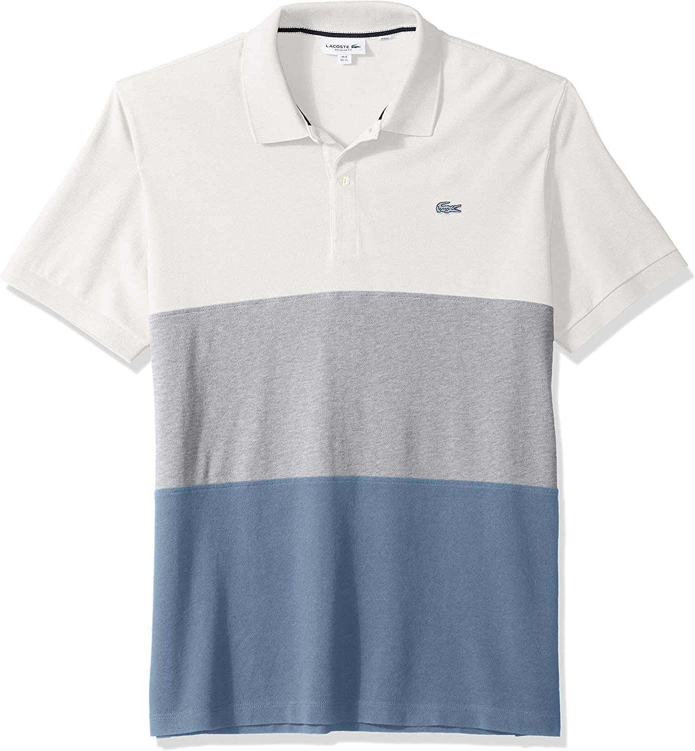 Lacoste Mens Short Sleeve Reg Fit Blue Pack Colorblock Polo
