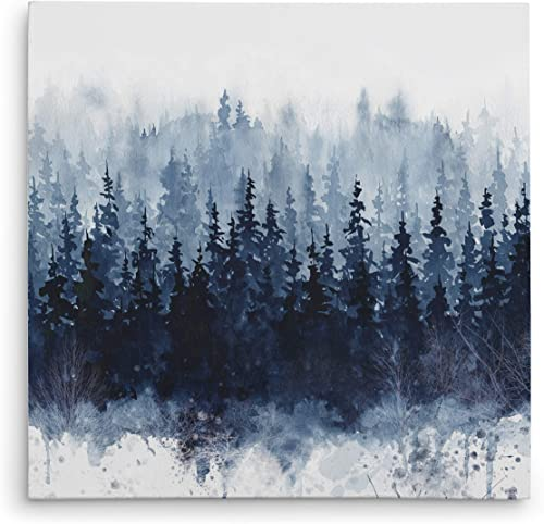 WEXFORD HOME Indigo Forest Gallery Wrapped Canvas Wall Art