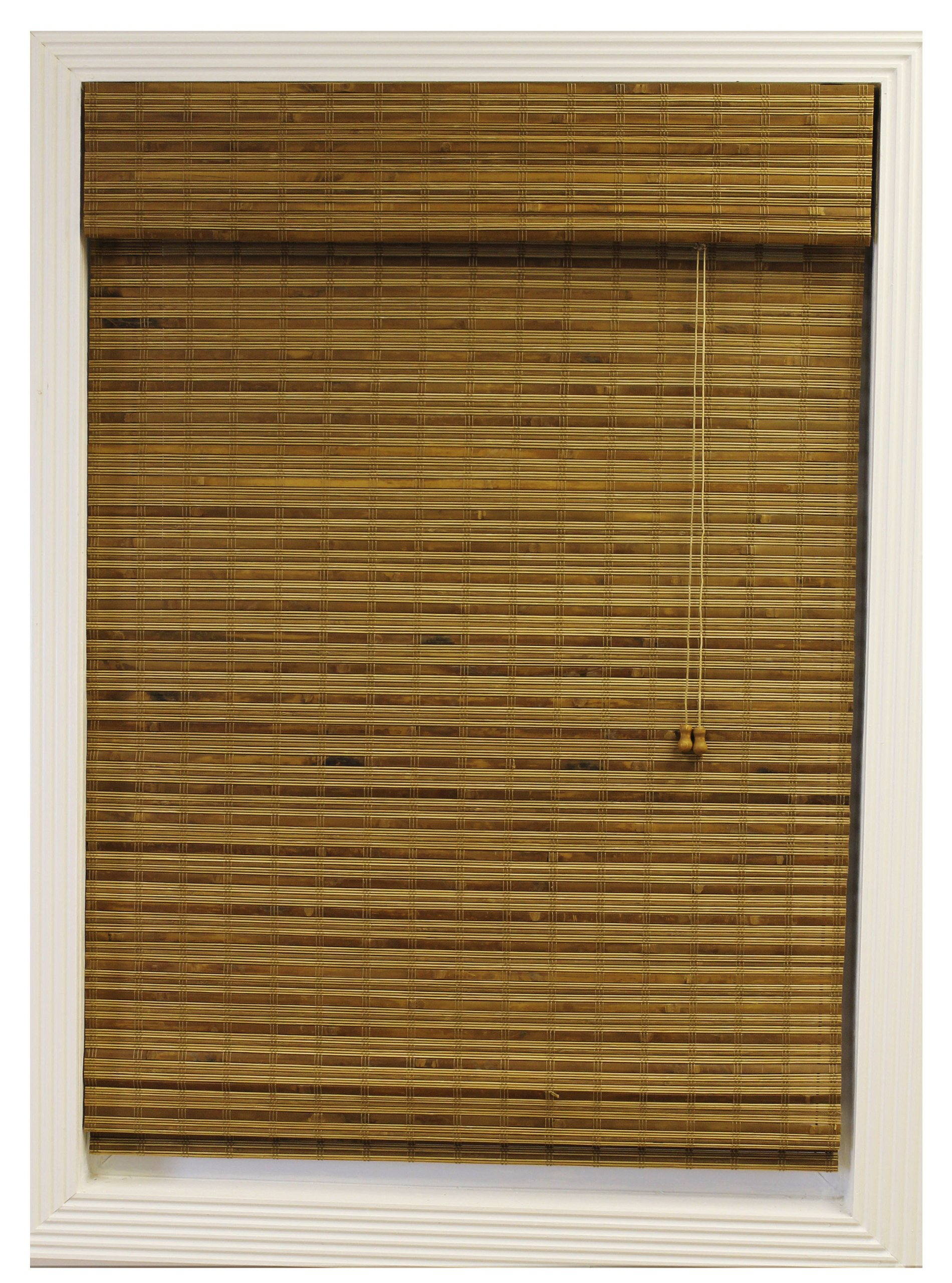 Calyx Interiors Bamboo Roman Shade, 58-Inch Width by 74-Inch Height, Dali Natural