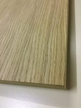 N White Oak Veneered Mdf 19mm Thick Raw Real Wood Veneer 1200x600mm