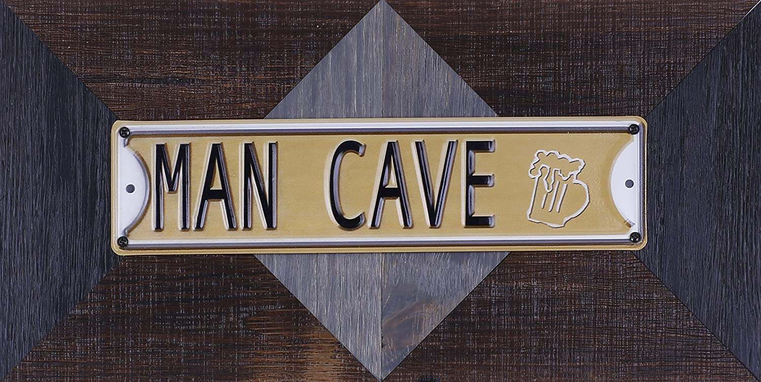 ArtMaison.ca 22.25-Inch by 11.5-Inch Mixed Media Metal Art Décor, Sam O, Man Cave HobbitHoleCo IM722