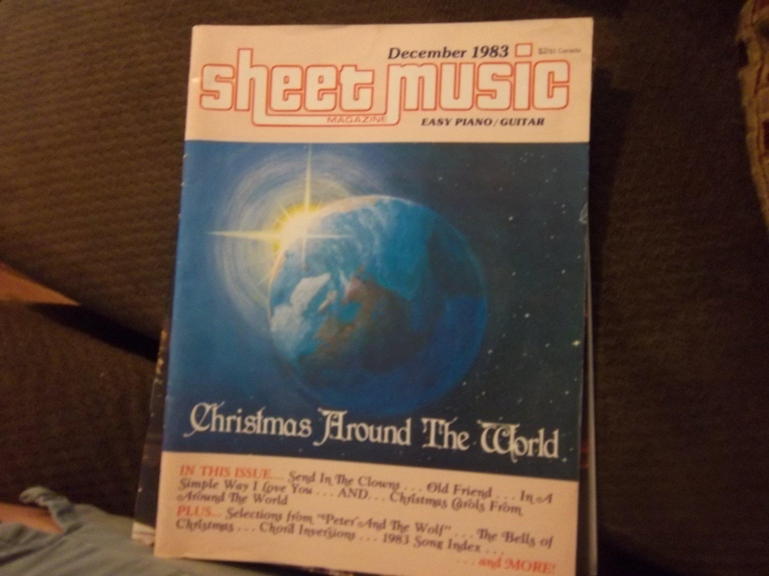 Sheet Music Magazine Easy Piano Guitar December 1983 7 Edward J