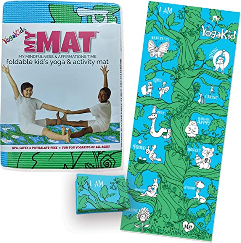 Kids Yoga Mat – My MAT My Mindfulness Affirmations Time Foldable Kid s Yoga Activity Mat