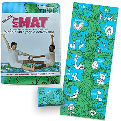 Kids Yoga Mat - My MAT (My Mindfulness & Affirmations Time) Foldable Kids Yoga & Activity Mat