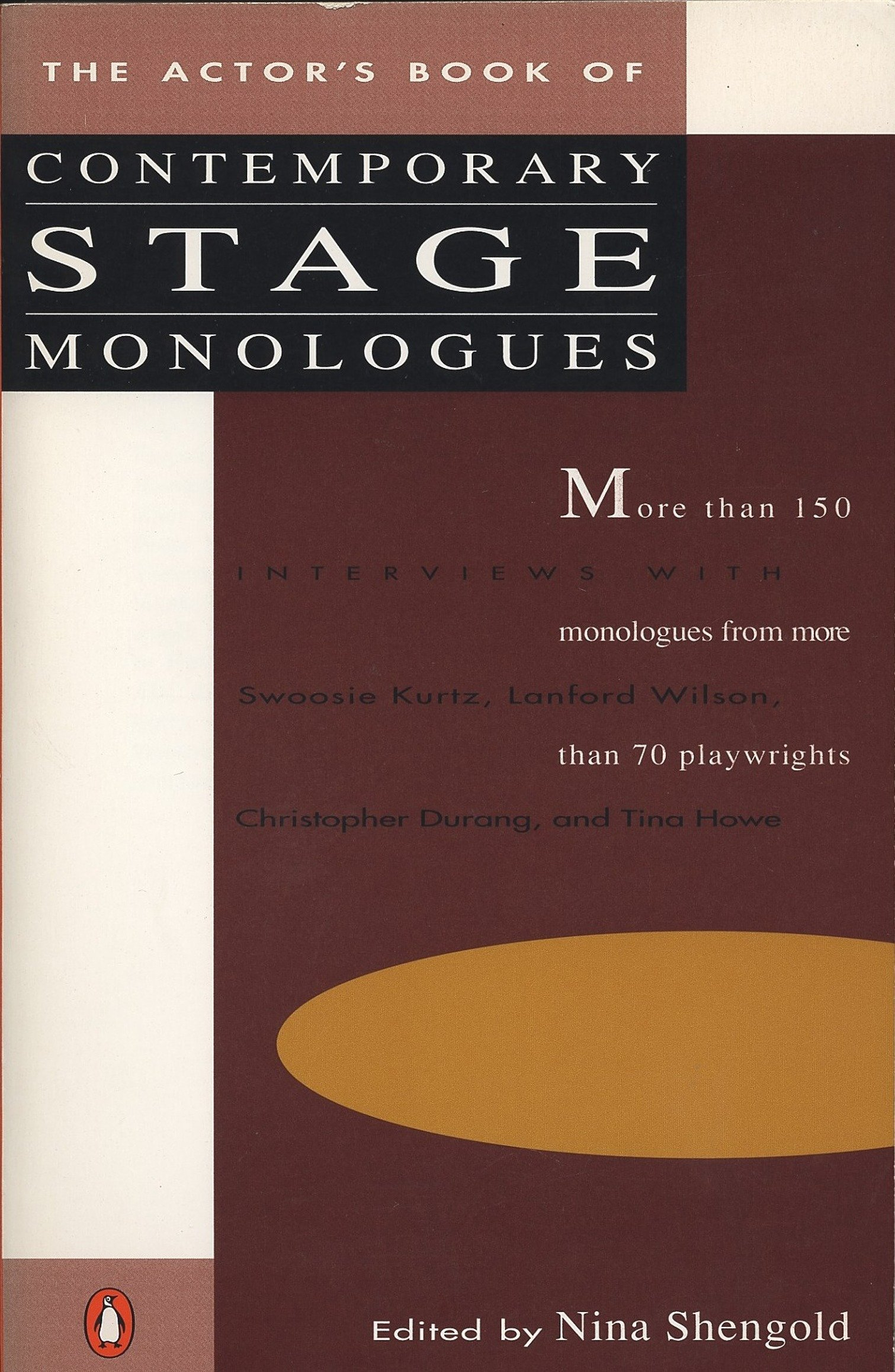 The Actor's Book of Contemporary Stage Monologues: More Than 150 Monologues  from More Than 70 Playwrights: Nina Shengold: 9780140096491: Amazon.com:  Books