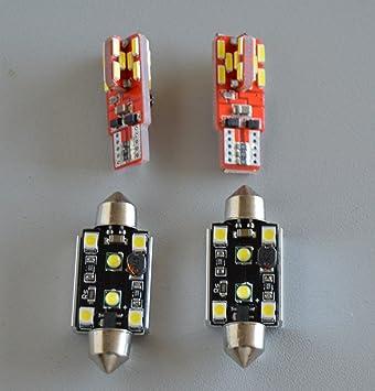 bombillas LED T10 C5W de matricula y posicion canbus