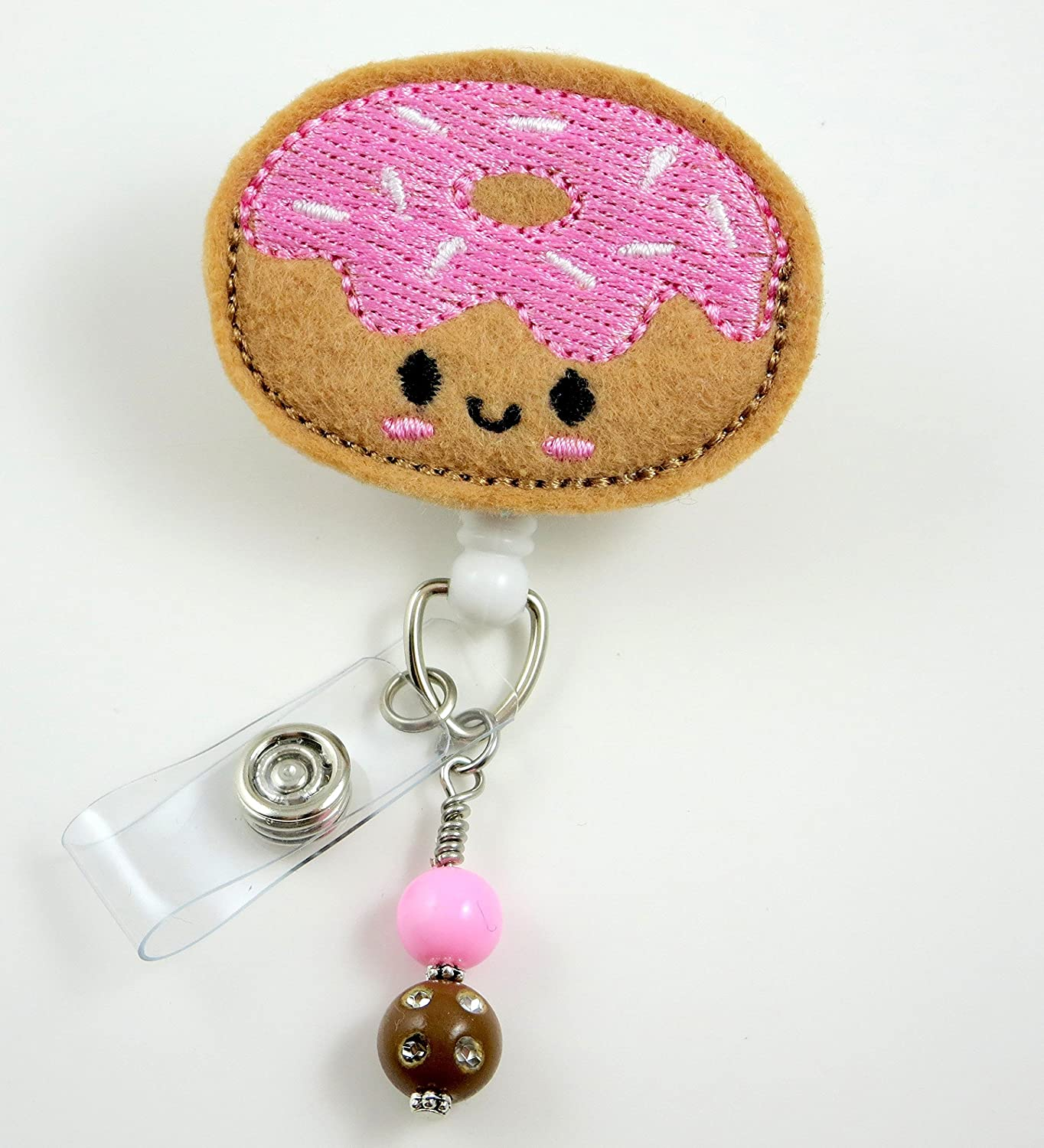 Sloth with Coffee Retractable Badge Reel ID Holder Clip Gift for Nurse Name Tag