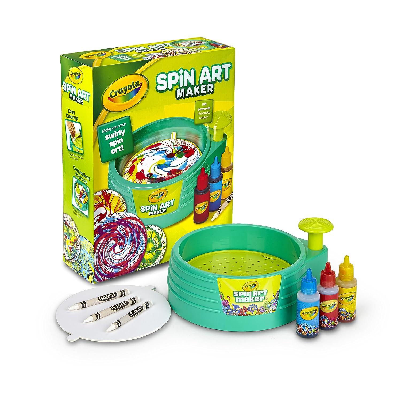 Amazon.com: Crayola Spin Art Maker, Art Activity Toy, Kid-Powered ...