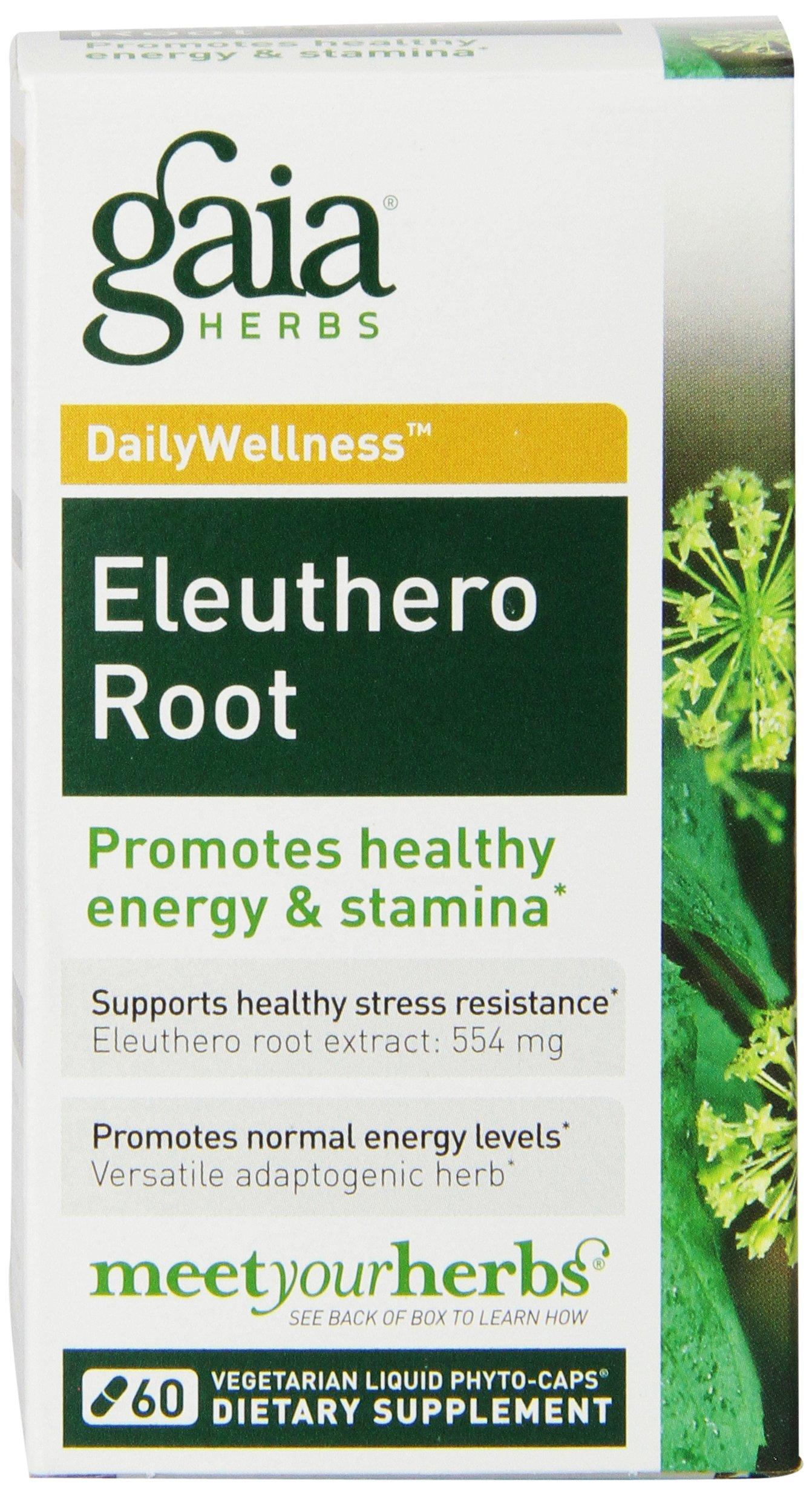 Gaia Herbs Eleuthero Root Liquid Phyto-Capsules, 60 Count