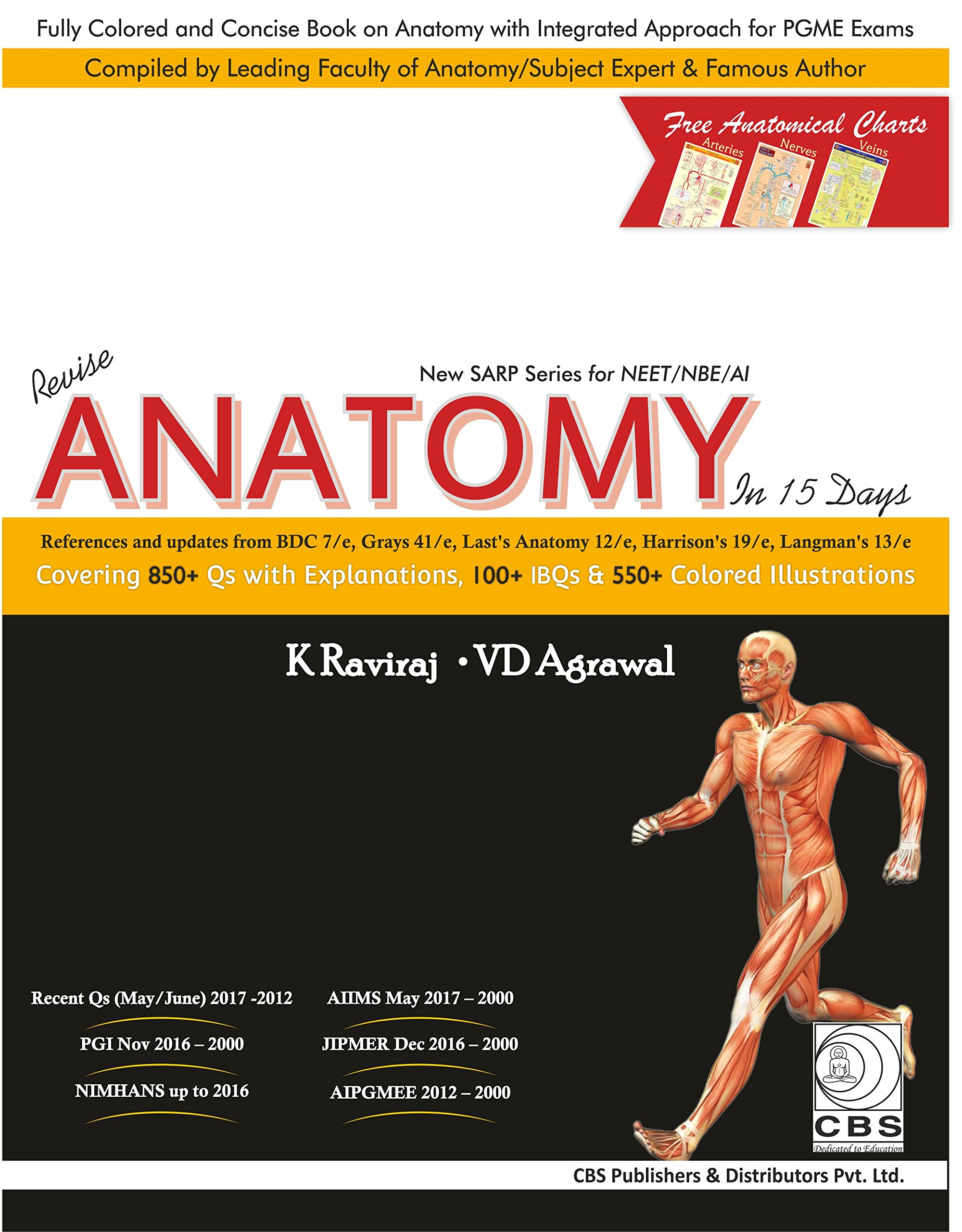 Buy Revise Anatomy in 15 days (New SARP Series for NEET/NBE/AI) Book ...