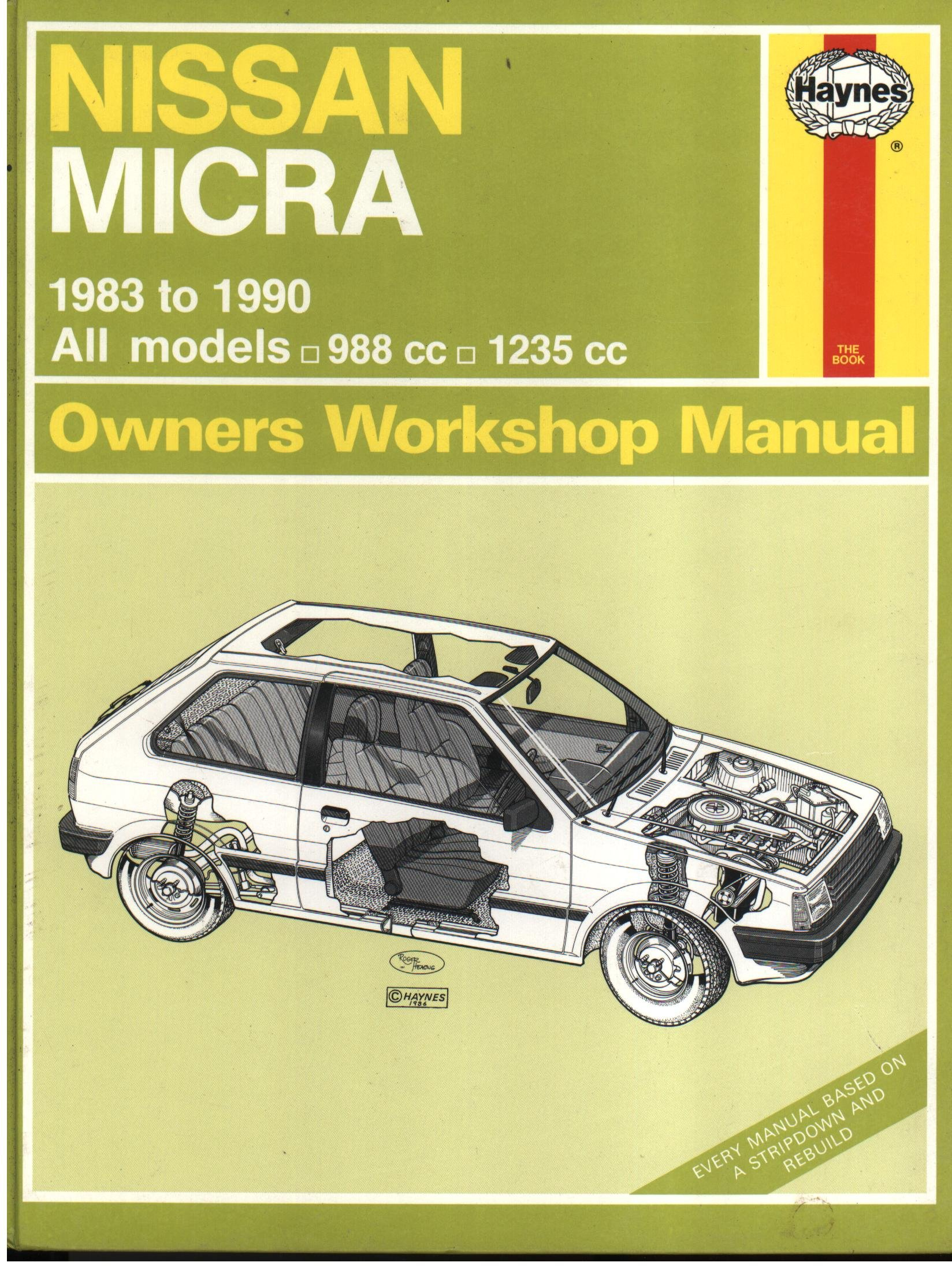 nissan micra owner s workshop manual amazon co uk colin brown rh amazon co uk Nissan Owners Manual PDF 2003 Nissan Maxima Owners Manuals