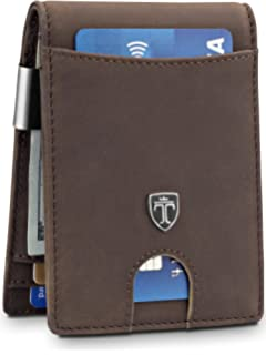 f2525d3ae95 Money Clip Wallet HOUSTON Mens Wallet RFID Blocking Wallet
