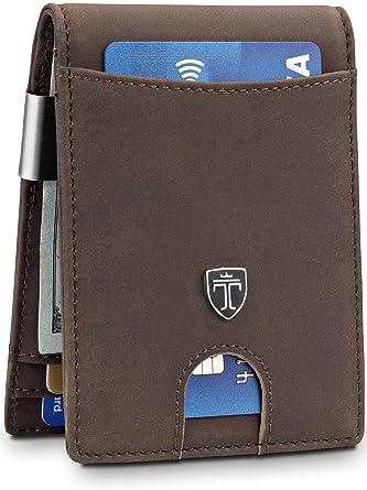 "ba28324082fc Money Clip Wallet""HOUSTON"" Mens Wallet RFID Blocking Credit Card  Holder | Travel Wallet"