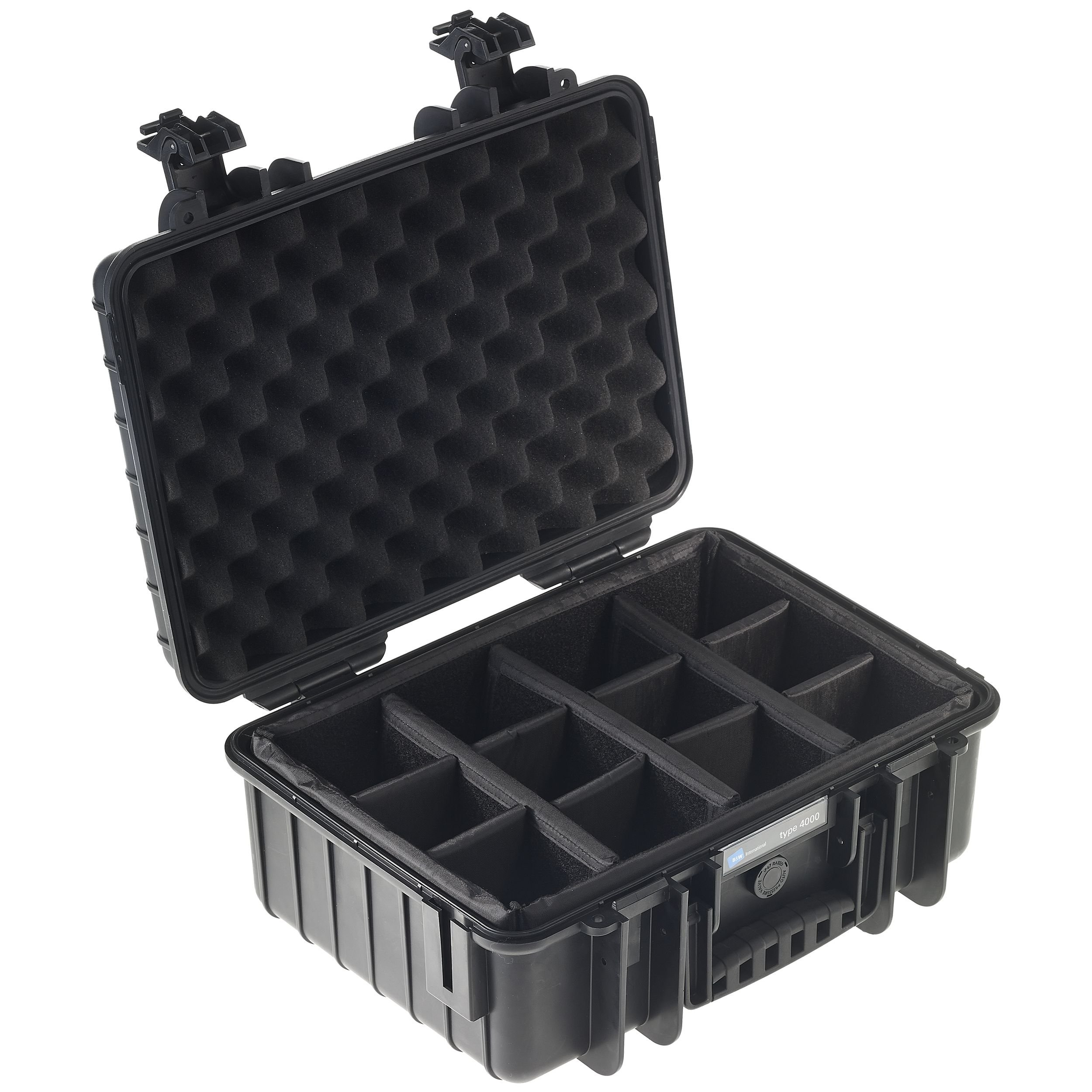 B&W International 4000/B/RPD 4000 Outdoor Case with RPD Insert Durable Type, Black