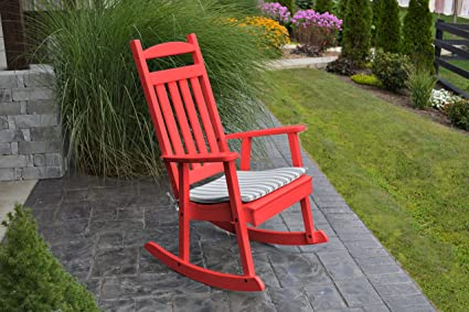 ASPEN TREE INTERIORS BEST POLY WOOD ROCKING CHAIR, Stylish Patio Porch  Seating, All Weather