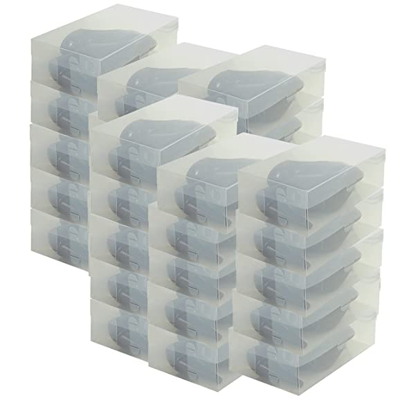Cajas de Almacenaje Zapatos DynaSun PP435 Apilable Plegable Transparente orNPL