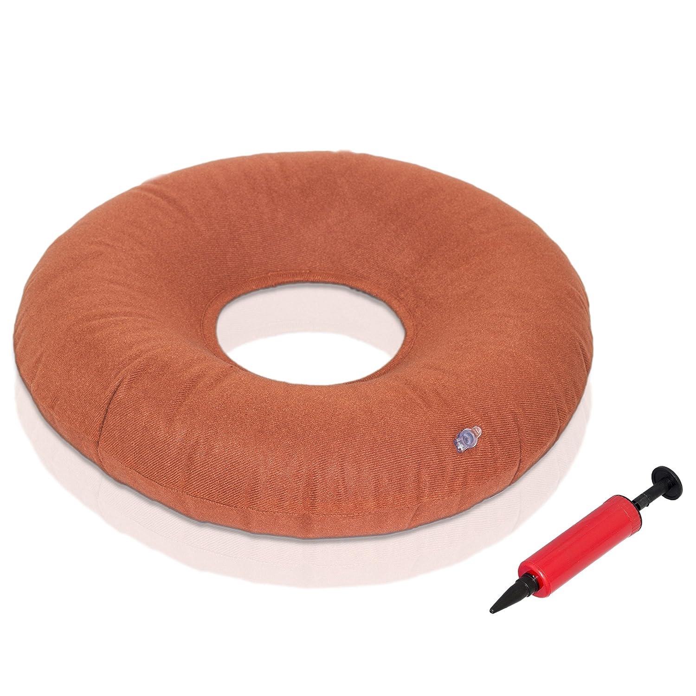Takit C37 Cuscino gonfiabile a ciambella da 37 cm odo cuscino per uso sanitario per alleviare il dolore delle emorroidi piaghe da decubito