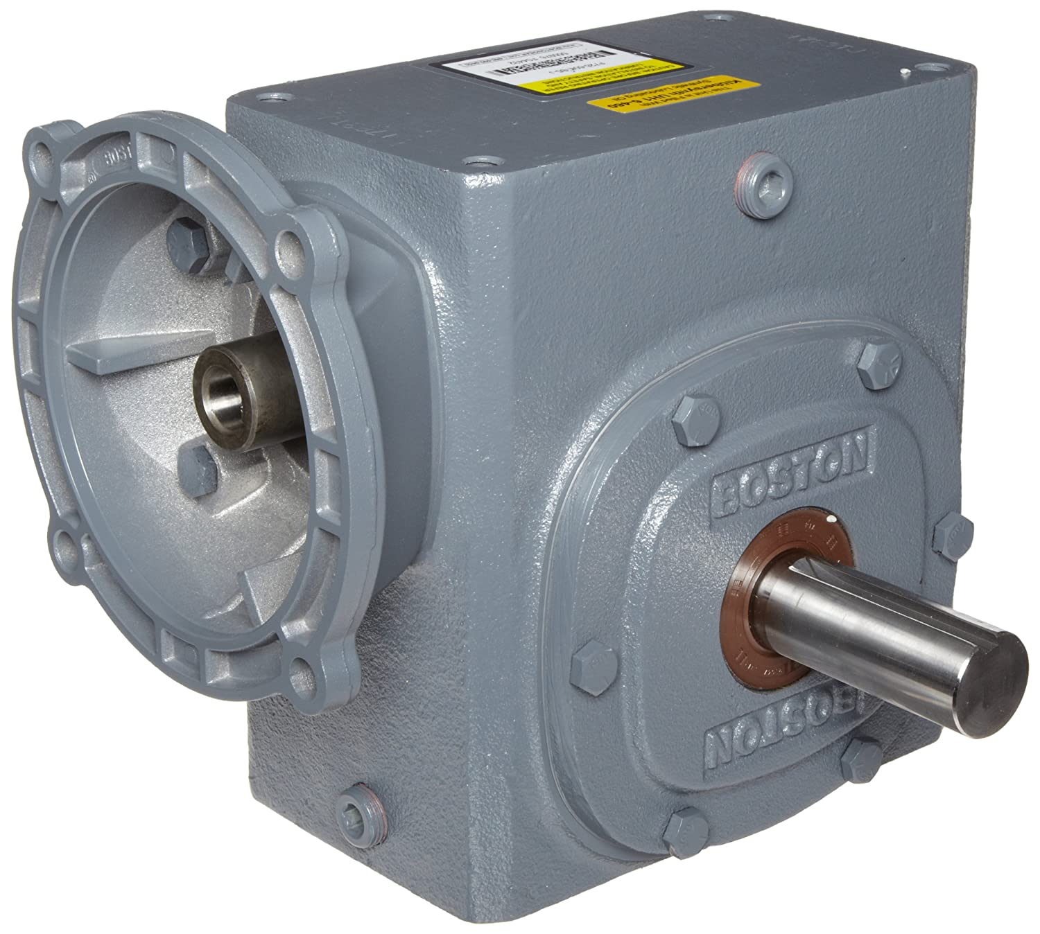2.62 Center Distance NEMA 140TC Flange Input 3.94 HP and 1345 in-lbs Output Torque at 1750 RPM Left and Right Output 10:1 Ratio Boston Gear F726B10KB7H Right Angle Gearbox