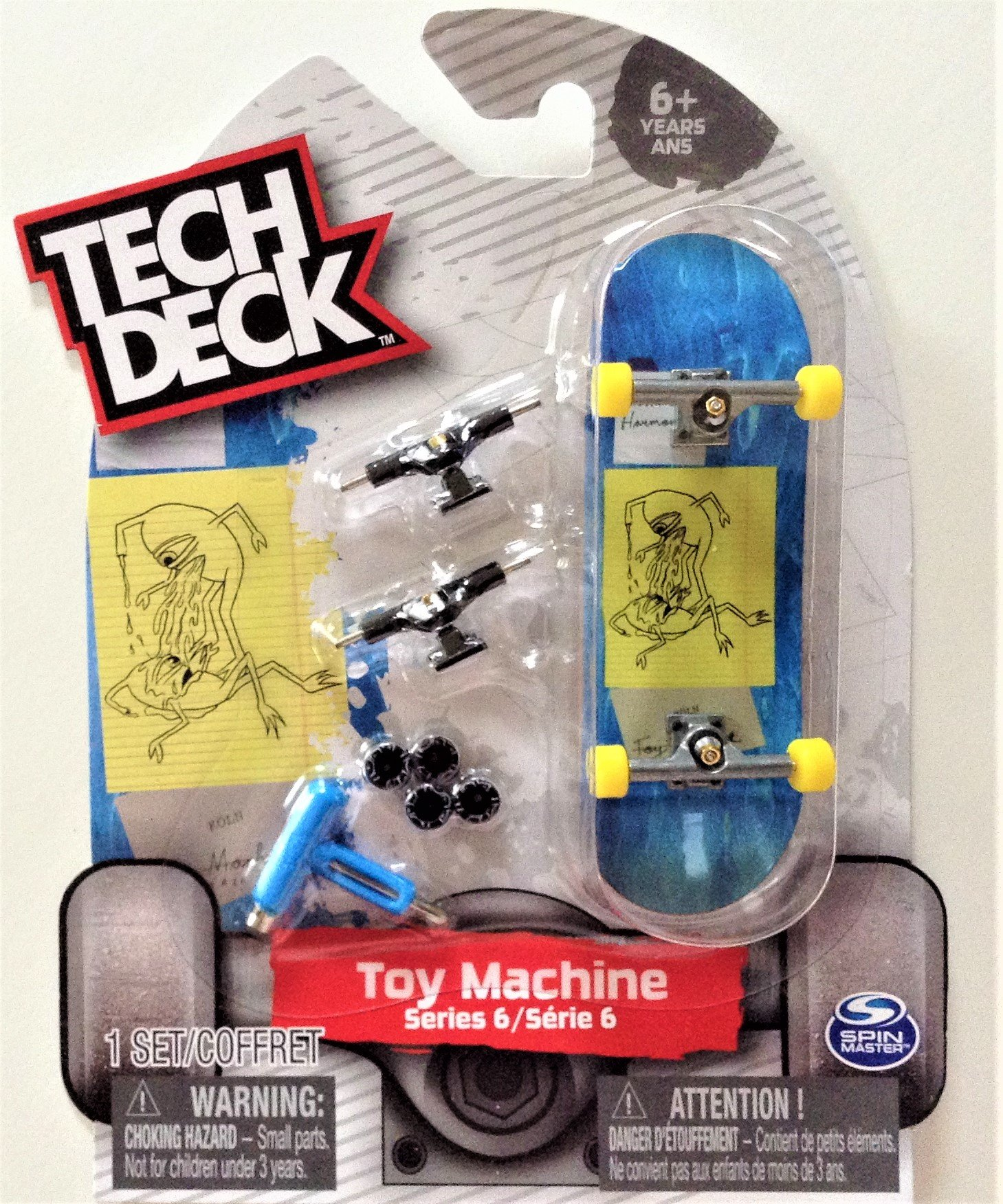 fingerboard Tech Deck TOY MACHINE Series 6 Joshua Harmony Alien Sketch Ultra Rare #20087775