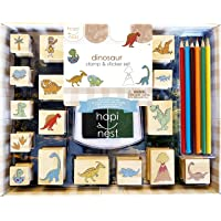Hapinest Dinosaur Stamp and Sticker Set for Kids Boys Arts and Crafts Kits Ages 4 5 6 7 8 9 Years Old