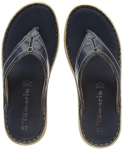 Tamaris Damen 27210 Pantoletten, Blau (Navy), 42 EU