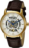 Stuhrling Original Legacy 970 Men's Quartz Watch with Silver Dial Analogue Display and Brown Leather Strap 970.02
