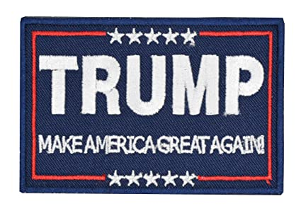 Tactical Morale Patch Trump Make America Great Again Patch Embroidered  Hooku0026Loop Fastener Backing Emblem