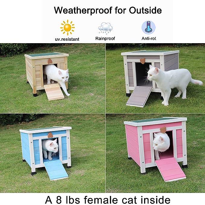 Amazon.com: Rockever - Casa para gatos en el exterior ...