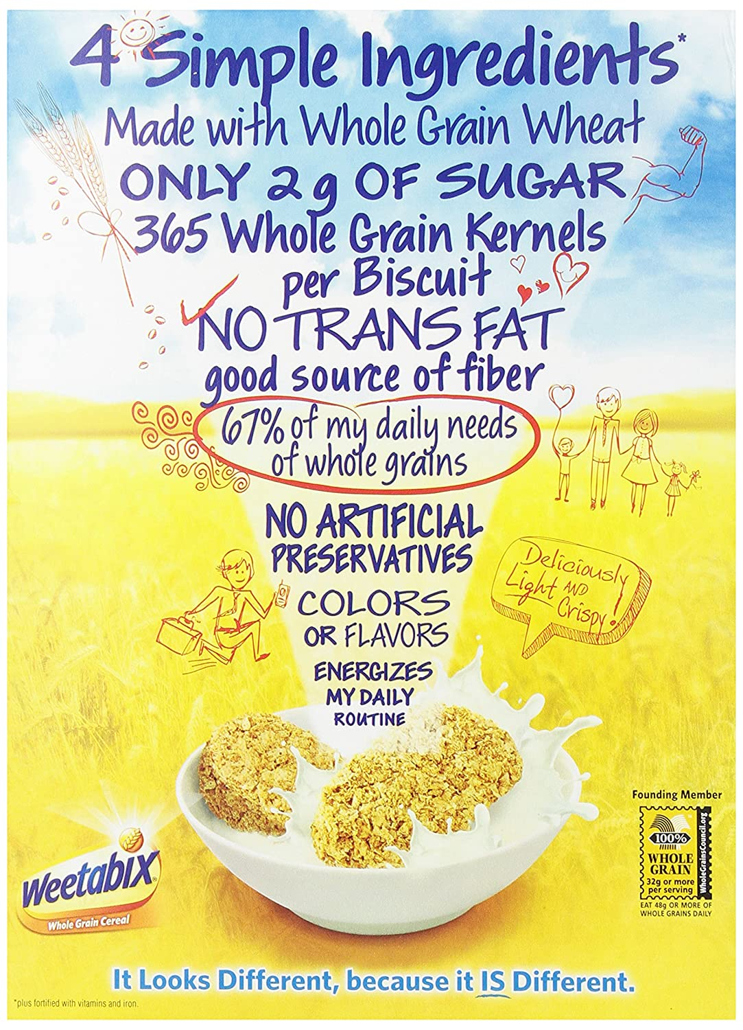 Weetabix Whole Grain Cereal 14 Ounce Pack Of 6 Cold Breakfast Cereals Amazon Com