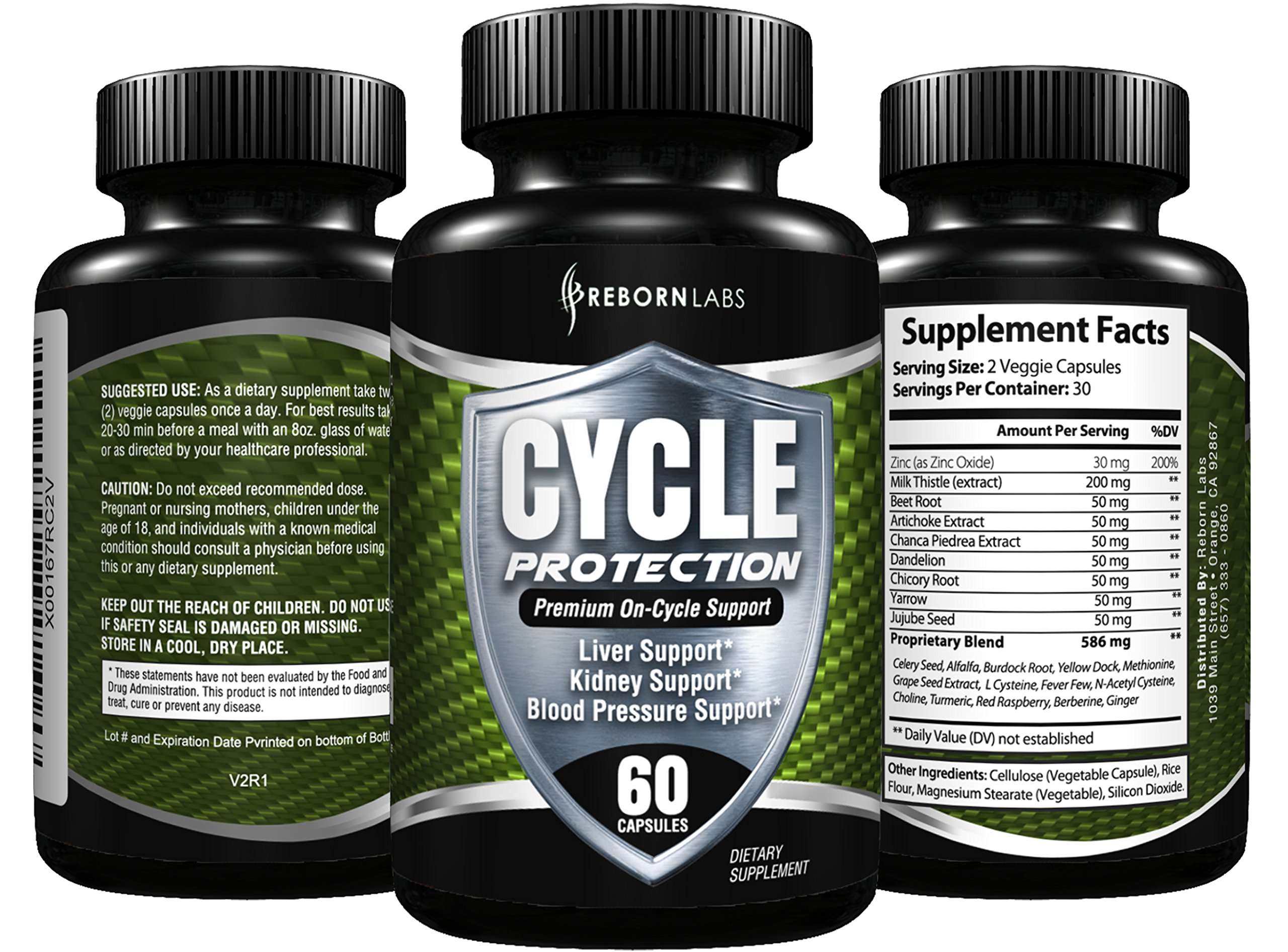 CYCLE PROTECTION | Cycle Support Supplement with Liver Support, Organ Support & Estrogen Blocker | Natural All-In-One Formula for a Balanced Body | With Zinc as a Natural Testosterone Booster