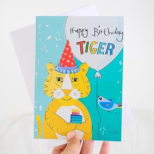 Amazon Tiger Birthday Card Happy Birthday Tiger Handmade