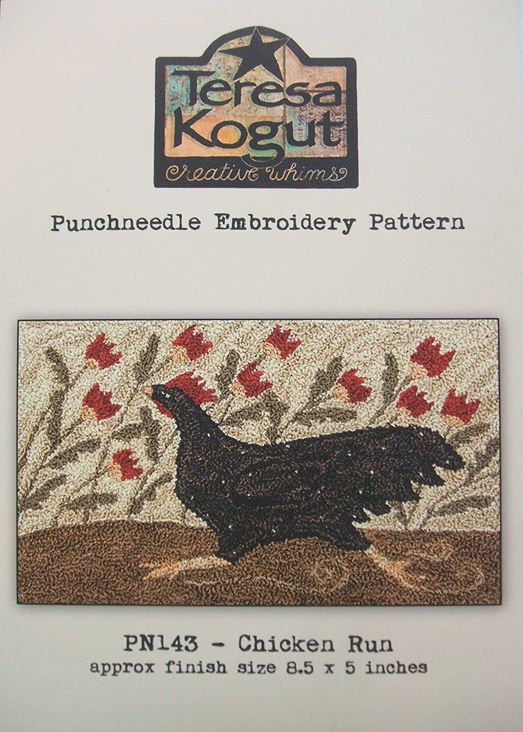 Chicken Run Punchneedle Punch Needle Embroidery Teresa Kogut Pattern PN143