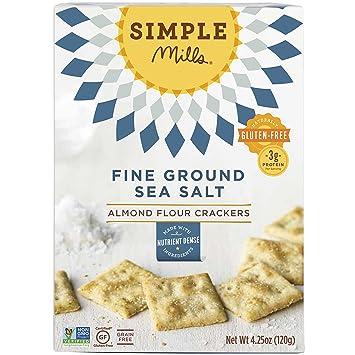 amazon com simple mills almond flour crackers fine ground sea salt