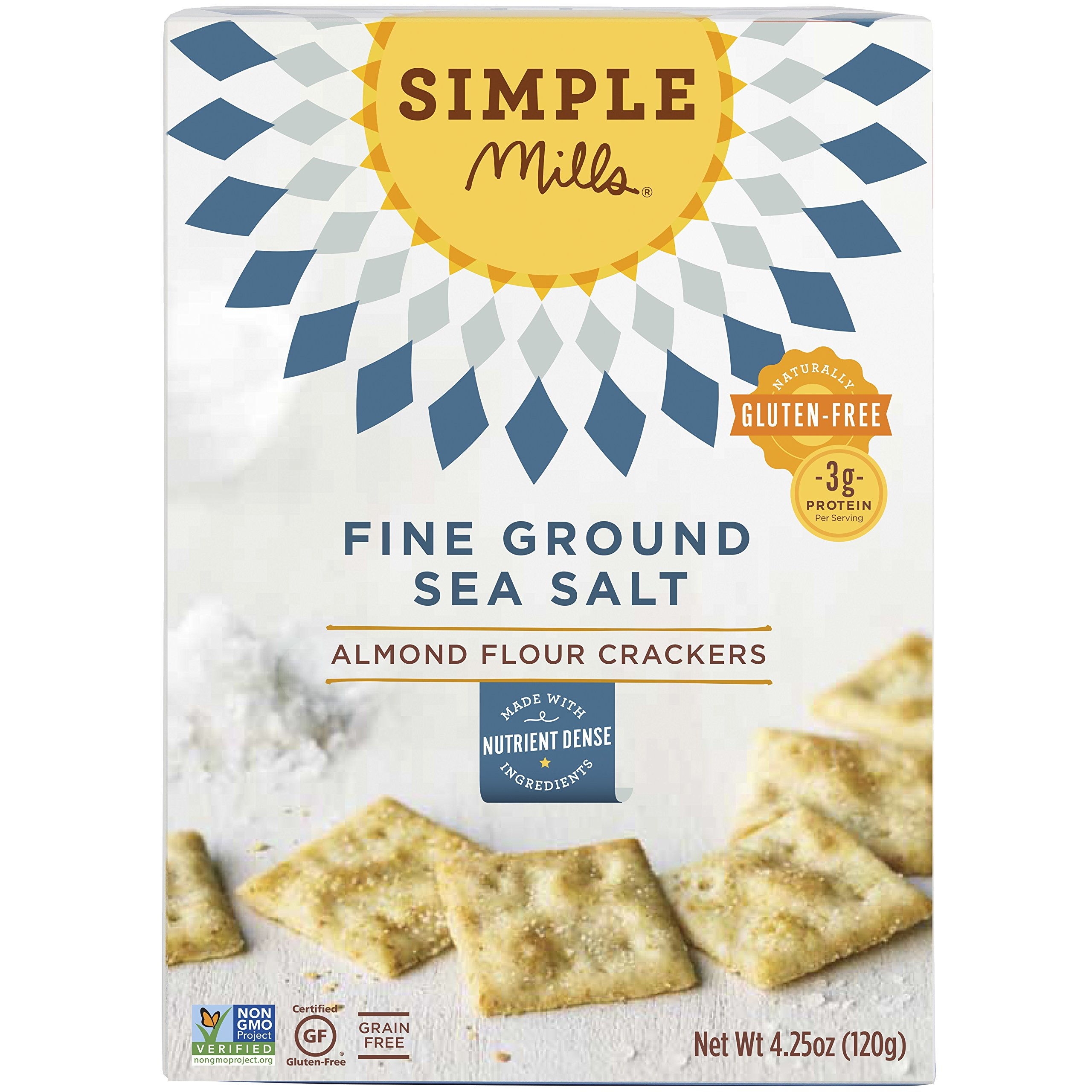 Simple Mills Almond Flour Crackers, 4.25 Ounce