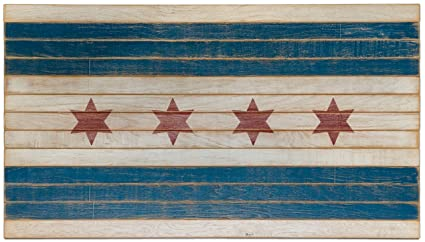 Amazon Com American Echoes Chicago City Flag 4 Red Star Handmade