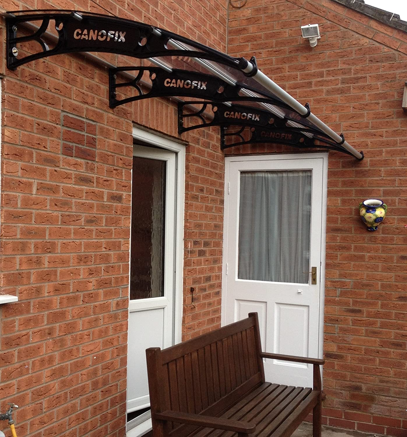 DIY Polycarbonate Cantilever Door Canopy 1000x 3000mm/Front Back Door Canopy Garden Shed Solid Canopy Amazon.co.uk Garden \u0026 Outdoors & DIY Polycarbonate Cantilever Door Canopy 1000x 3000mm/Front Back ...