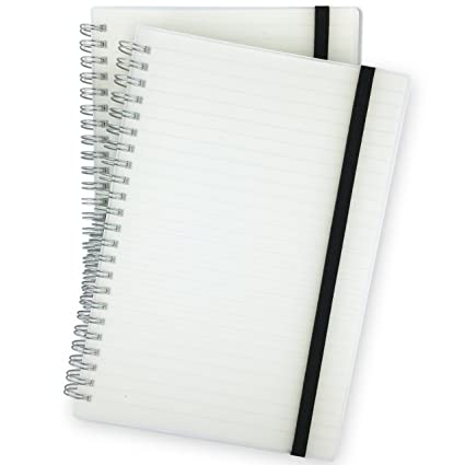 ec3ae6777919 Spiral Notebook, College Ruled/Lined Journal Paper, Hardcover Bound Many  Page Journal, Premium Paper Stickers, Elastic Closure Strap, Wirebound,  5.71 ...