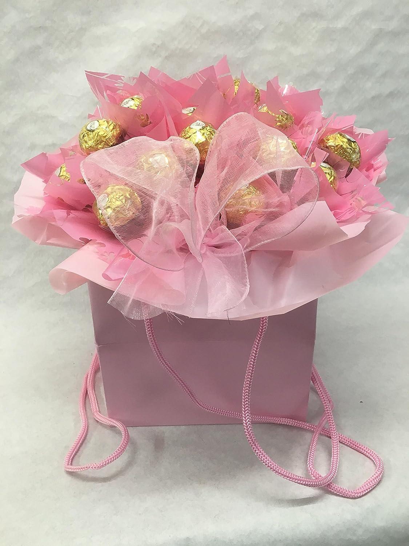 Pink ferrero rocher chocolate bouquet chocolate bouquet amazon pink ferrero rocher chocolate bouquet chocolate bouquet amazon grocery izmirmasajfo Images