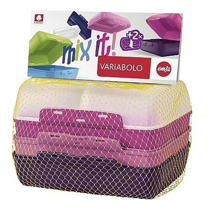 Emsa 517052 Varia Bolo 4 DE Mitad de Fuentes de Girls de Juego, plástico,