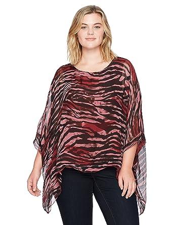 0482f2e6e5e4c M Made in Italy Women s Plus Size Animal Print Bat Sleeves Tunic at Amazon  Women s Clothing store