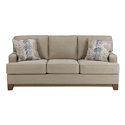 Benchcraft - Hillsway Contemporary Upholstered Sofa - Pebble