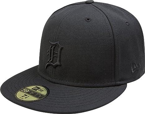 4d3adfa9 New Era Detroit Tigers 59FIFTY Black on Black Fitted Hat