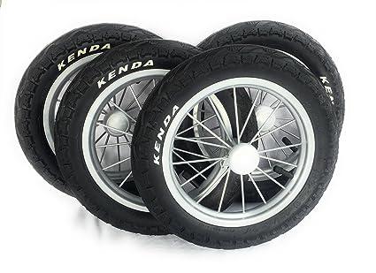 4 unidades 12 para ruedas metal ruedas para carrito Llanta aspecto de aluminio Nuevo
